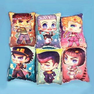 Jojo Handmade Plush Stuffed Pillow, Joseph, Jotaro, Josuke, Giorno, Bruno, Polnareff