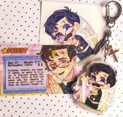 Boys Outta Luck! Priest charm keychain accessory