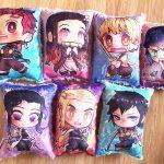 Demon Slayer: Kimetsu no Yaiba Handmade Plush Stuffed Pillow, Tanjiro, Nezuko, Inosuke, Zenitsu, Rengoku, Shinobu, Giyuu, Mitsuri