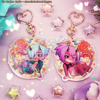 Boys Outta Luck! Succubus and Incubus Keychain charm