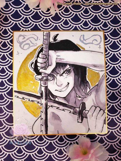 Demon Slayer: Kimetsu no Yaiba Inosuke Hashibira on shikishi board
