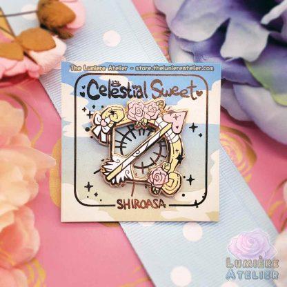 Enamel Pin Cupid's Bow, Valentine's enamel pin, hard enamel pin, cute enamel pin, kawaii pin, lovecore aesthetic pin